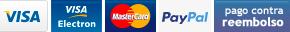 Paga con tarjeta crédito, débito o contra reembolso
